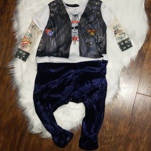 Costume infant boys M 12-18 mnths Born to be Wild